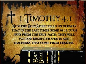Image of the Scripture quote from 1 Timothy 4:1
